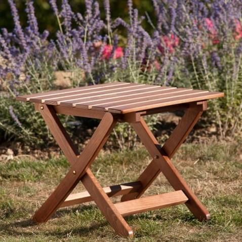 Repose pieds bois autentica ottoman la boutique desjoyaux for Table exterieur a donner