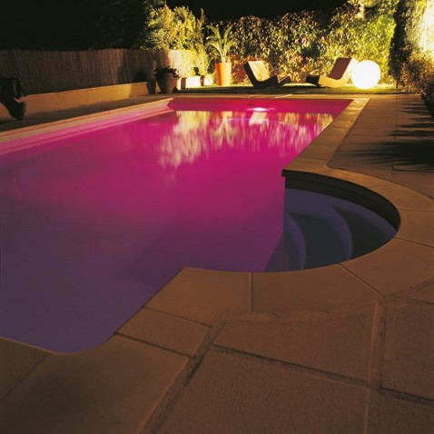 filtres colorés piscine x3