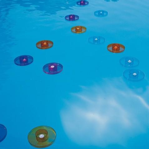 Bougies de piscine flottantes x3