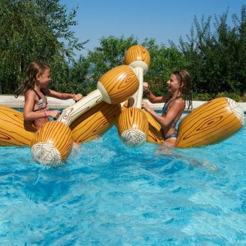 piscine gonflable jeux