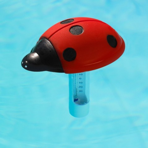 Thermom tre flottant lady bird for Thermometre piscine flottant