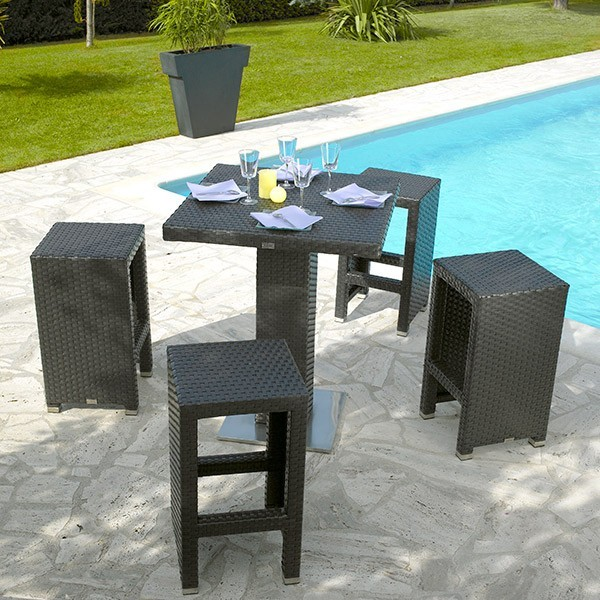 Table de bar haute jardin Table haute jardin design