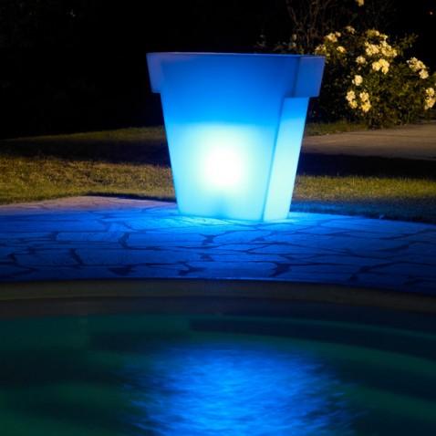 Pot lumineux jardin Vaso Light 75 cm
