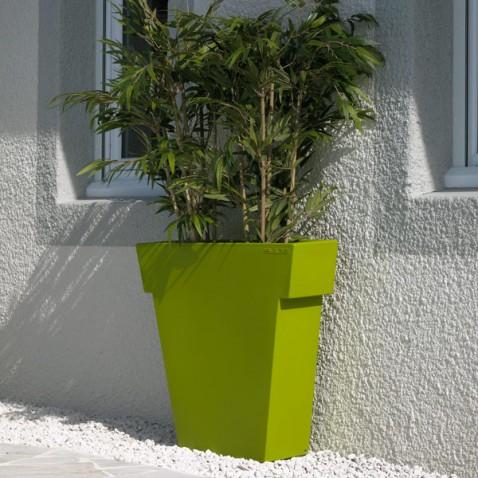 Pot de fleur exterieur bello gris la boutique desjoyaux for Pot colore exterieur
