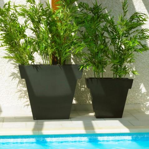 Pot extérieur Vaso black 55 cm