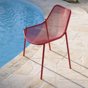 Chaise empilable rouge Tito x2