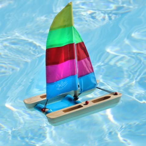 Jouet Bateau bois Catamaran
