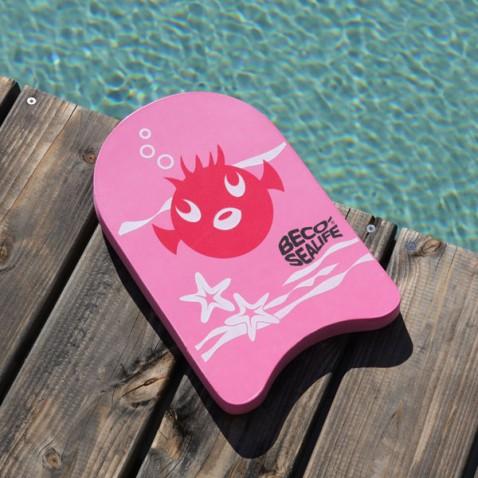 Planche enfant natation Rose